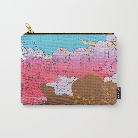 WHERE THE BUFFALO ROAM? Carry-All Pouch