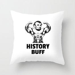 History Buff Abraham Lincoln  Throw Pillow