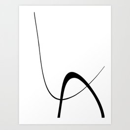 Interlocking Two B Art Print