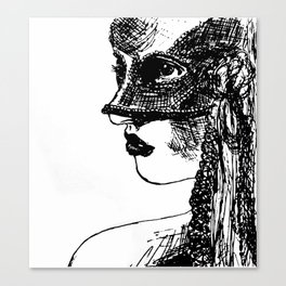 Girl wearing mask Canvas Print