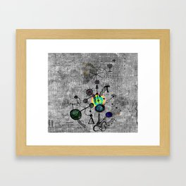 Designs for the walls of an underground car park. No 2 Framed Art Print