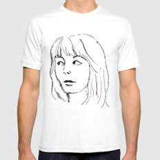 That Look MEDIUM White Mens Fitted Tee