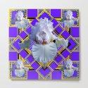 ART DECO WHITE IRIS PURPLE ART by sharlesart