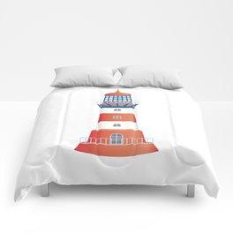 nautical lighthouse Comforters