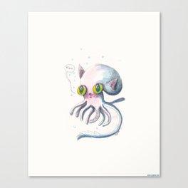 Squid Boo Canvas Print