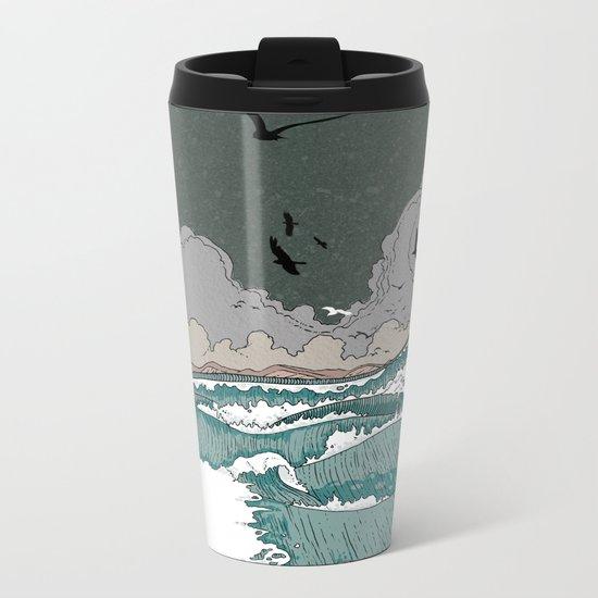 Stormy seas Metal Travel Mug