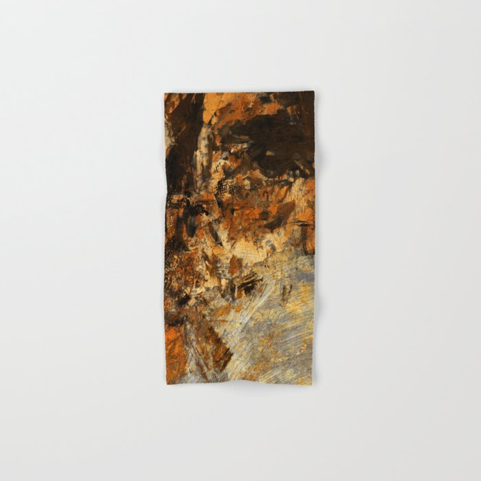 Ocher Wall Hand & Bath Towel