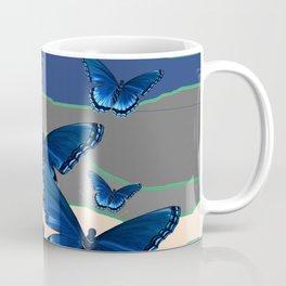 INDIGO BLUE BUTTERFLIES ON THE STORMY HORIZON Coffee Mug