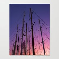 sailing Canvas Prints featuring sailing by gzm_guvenc