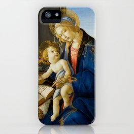 """Sandro Botticelli """"Madonna of the Book"""" iPhone Case"""
