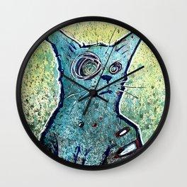 Kuro the Zombie Cat Wall Clock