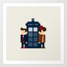 Doctor Who 10th & 11th Art Print