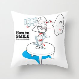 How to Smile Throw Pillow