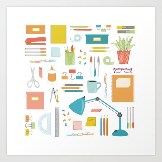 Portrait of a Desk Art Print