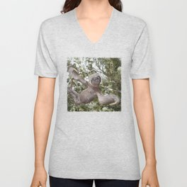 Sloth, A Real Tree Hugger Unisex V-Neck