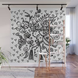 Lace Pattern Wall Mural