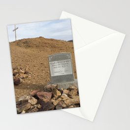 Gravestone of Tumbleweed Harris - Calico Ghost Town Stationery Cards
