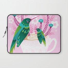 Hummingbirds on Teacup Laptop Sleeve