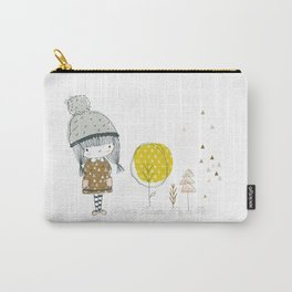 Cute whimsical girl Carry-All Pouch