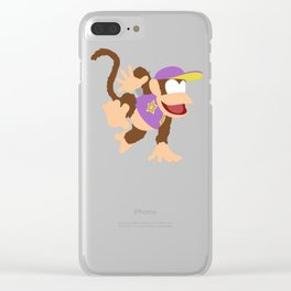 DIDDY KONG(SMASH)PURPLE Clear iPhone Case