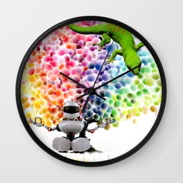 Candy Buttons Wall Clock