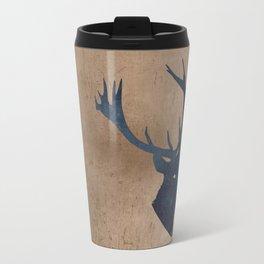 Grunge Deer Stag Simple Illustration for Men Travel Mug