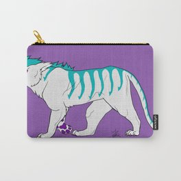 Teal Tiger Carry-All Pouch