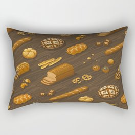 Pixel Bakery: Bread Rectangular Pillow