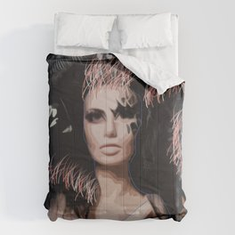 Black Craziness Comforters