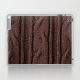 Brown braid jersey cloth texture abstract Laptop & iPad Skin