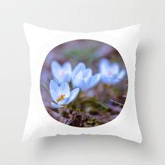 blue Crocus Throw Pillow