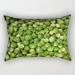 Green Brussels sprout vegetable pattern Rectangular Pillow