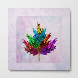 Joyful leaf Metal Print