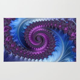Feathery Flow - Fractal Art Rug