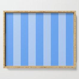Sky Blue Stripes Serving Tray