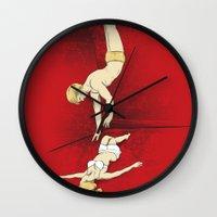 rocky horror Wall Clocks featuring Rocky Horror Story by DiHA