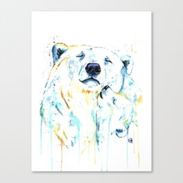 Polar Bear Unconditional Love Canvas Print