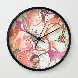 Sloppy Poppy Wall Clock