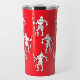 Knights On Red Travel Mug