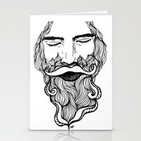 beard Stationery Cards featuring Beard  by Holly Harper