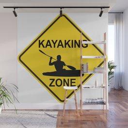 Kayaking Zone Road Sign Wall Mural