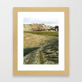Running In Icelandic Mountains Framed Art Print