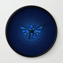 ZELDA Triforce Blue Wall Clock