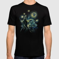 Death Starry Night Mens Fitted Tee Black MEDIUM