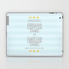 Waffles Friends Work Laptop & iPad Skin