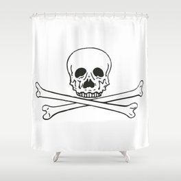 Skull and bones 3 Shower Curtain