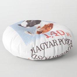 1967 HUNGARY Fox Terrier Postage Stamp Floor Pillow
