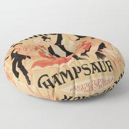 La Gomme by Champsaur vintage belle epoque ad Jules Chéret Floor Pillow