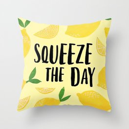 Squeeze the Day Pattern Throw Pillow