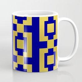 Gold and blue pattern Coffee Mug